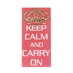 Tela Keep Calm And Carry On em Tecido - 60x30 cm