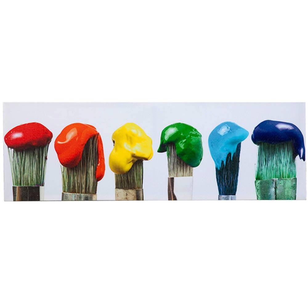 Tela Landscape Colored Paint Brushes em MDF - Urban - 90x30 cm