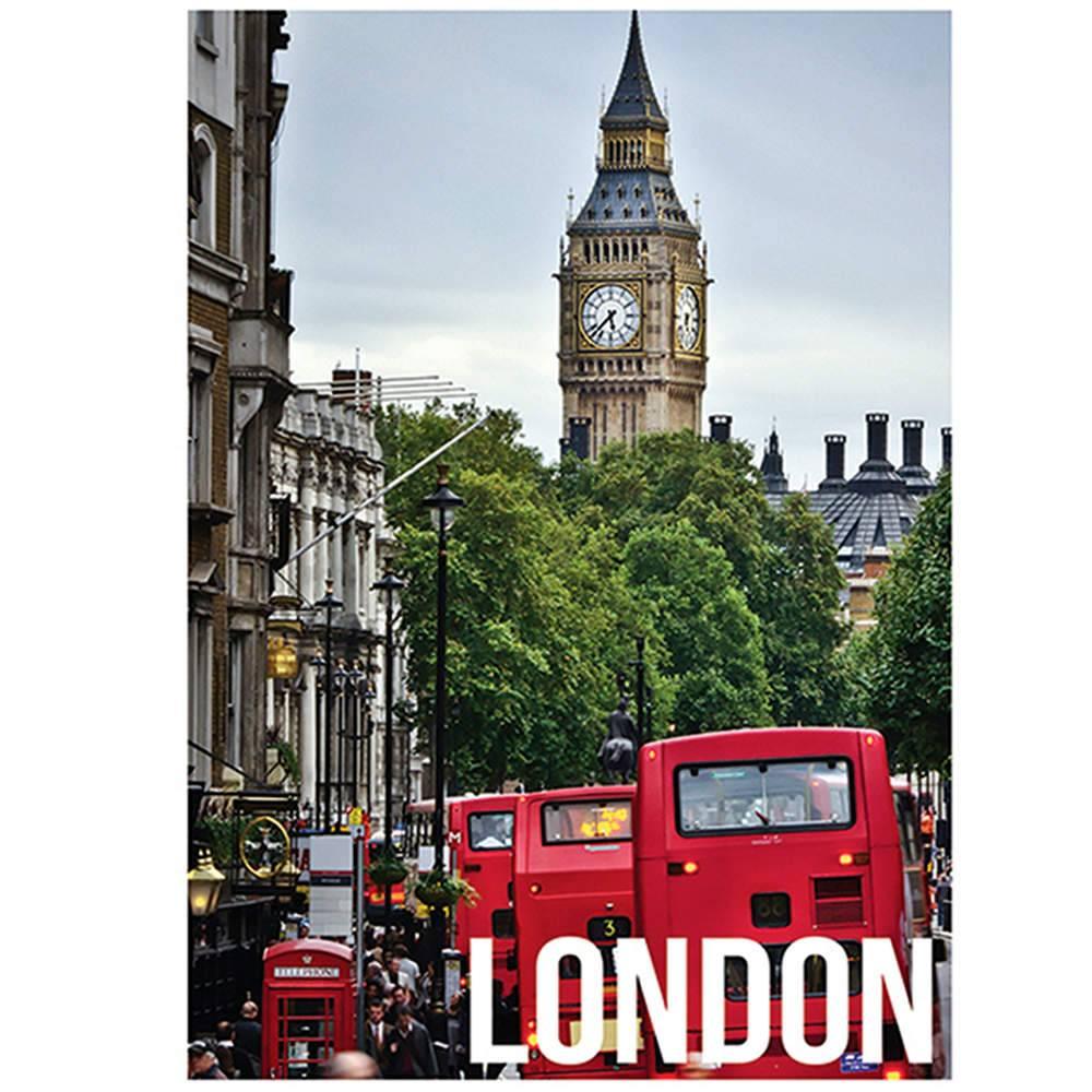 Tela Landscape London Day Light em MDF - Urban - 70x50 cm