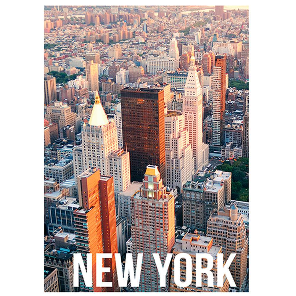 Tela Landscape New York Day Light em MDF - Urban - 70x50 cm