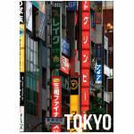 Tela Landscape Tokyo Outdoors Em MDF - Urban - 70x50 cm