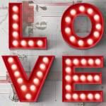 Tela com Led Love Divided Fd Branco em MDF - Urban - 60x60cm