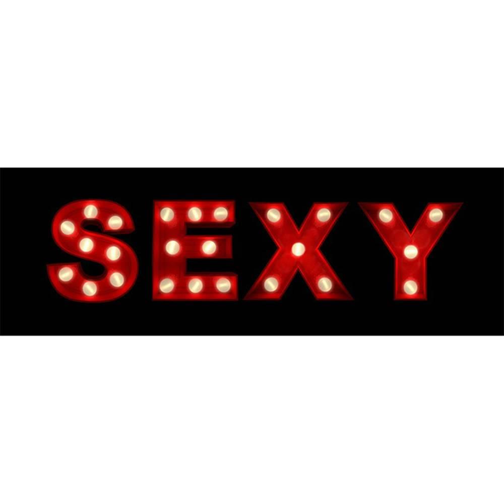 Tela com Led Sexy Fundo Preto em MDF - Urban - 90x30 cm