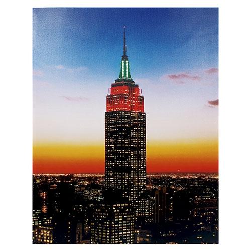 Tela com LEDs Empire State Building - 80x100 cm