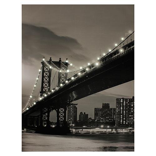 Tela com LEDs Ponte Brooklyn - 195x150 cm