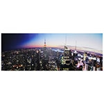 Tela com LEDs Vista de Manhattan Fullway - 70x195 cm