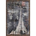 Tela em Linho Selo Paris Oldway - 77x52 cm