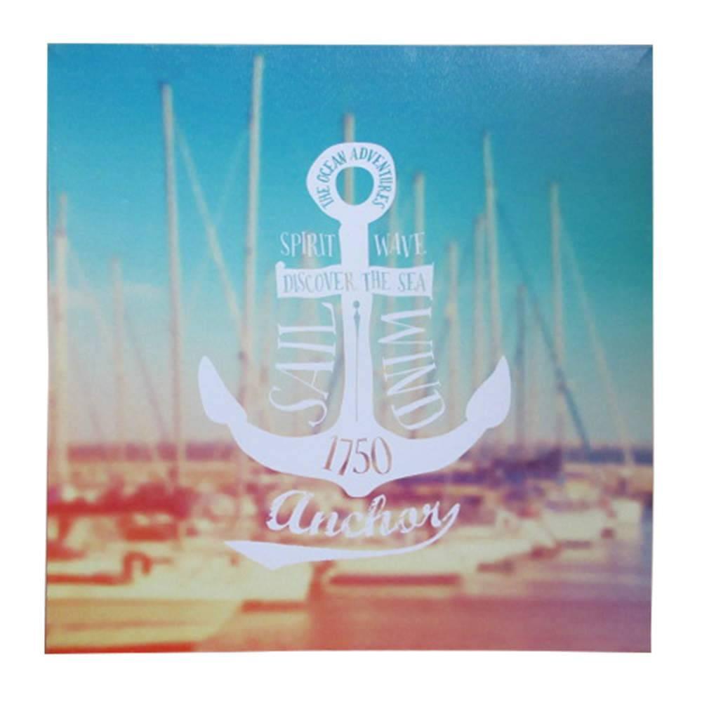 Tela Loft Anchor Sail Wind Azul em MDF - Urban - 50x50 cm
