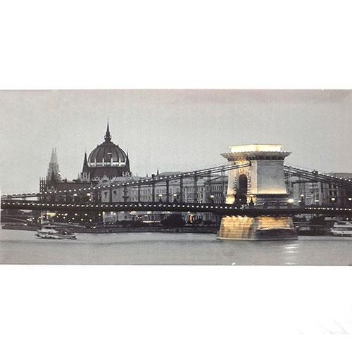 Tela Londres Palácio de Westminster - Impressão Digital - 60x30 cm