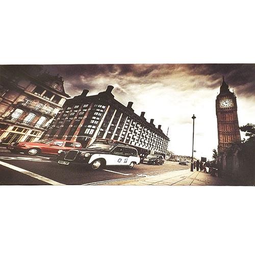 Tela Londres Torre Big Ben - Impressão Digital - 60x30 cm