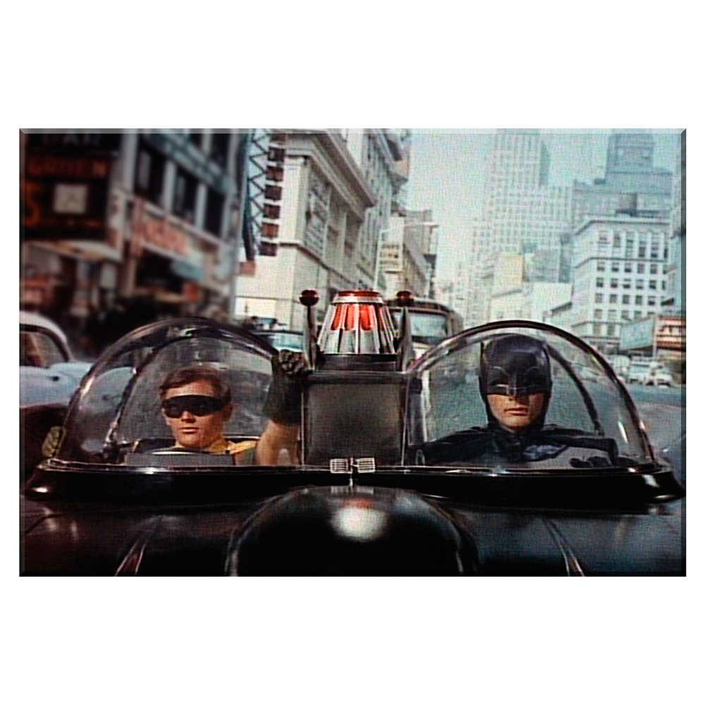 Tela Movie Batman and Robin Front Car em Madeira - Urban - 70x50 cm