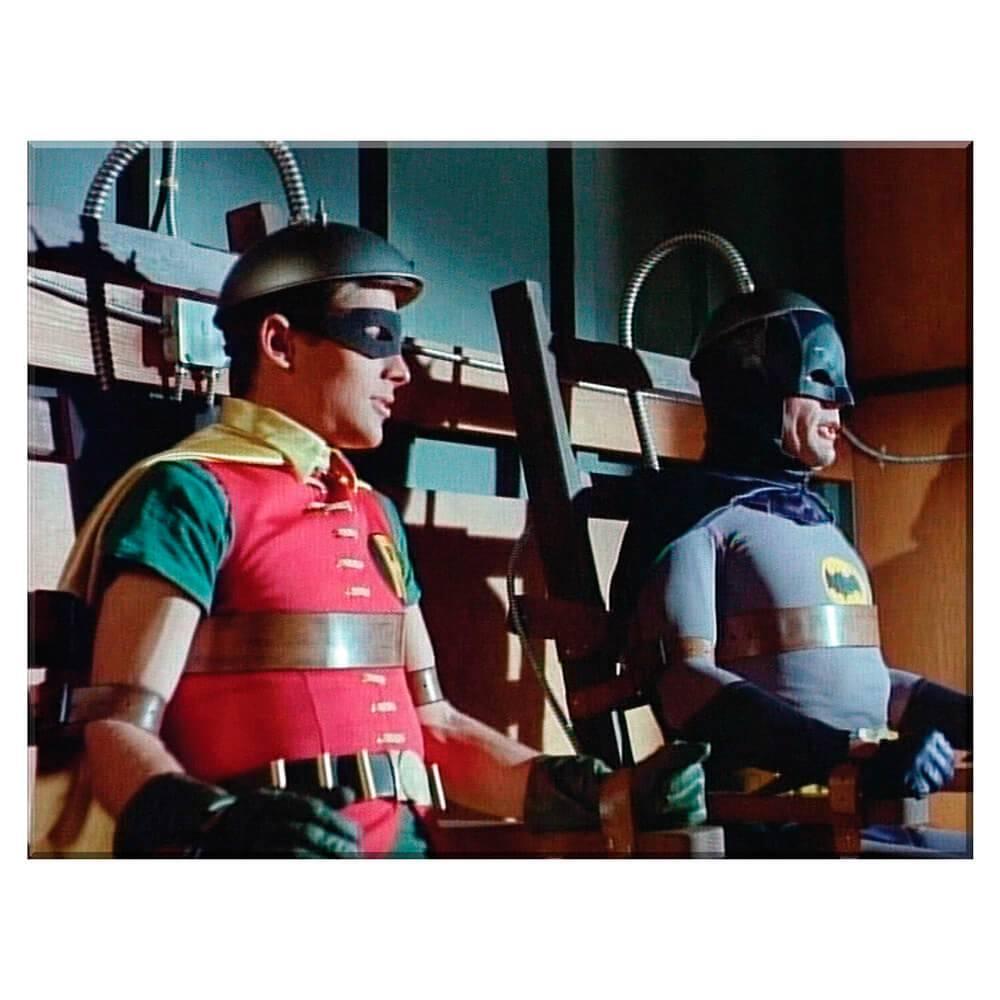 Tela Movie Batman and Robin in a Machine em Madeira - Urban - 70x50 cm