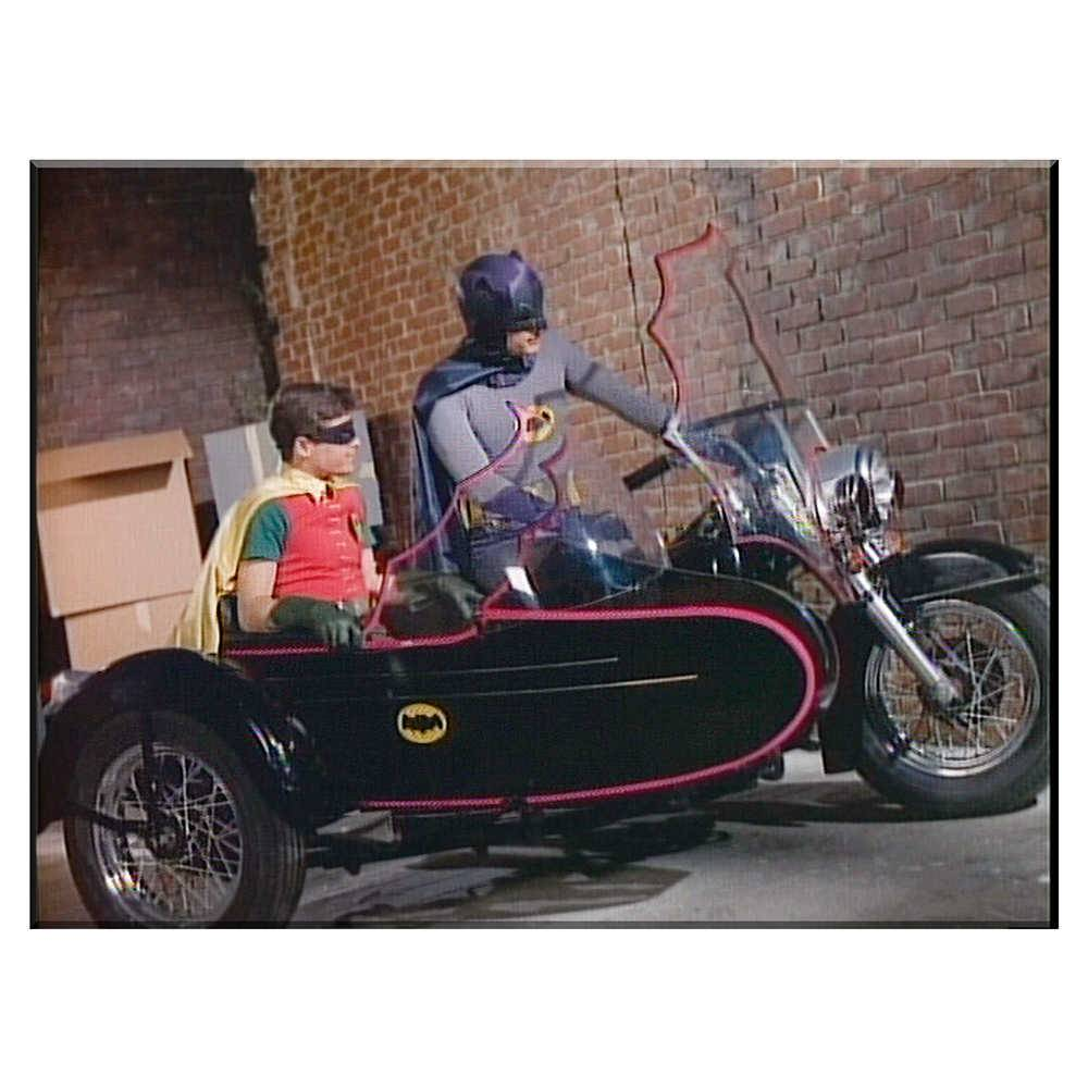 Tela Movie Batman and Robin Side Bike em Madeira - Urban - 70x50 cm