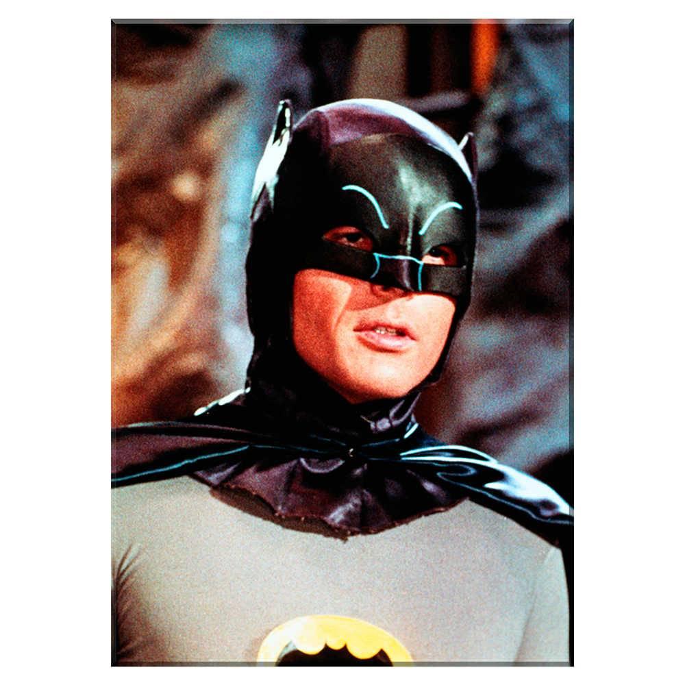 Tela Movie Batman Half Body Preto e Cinza em Madeira - Urban - 70x50 cm