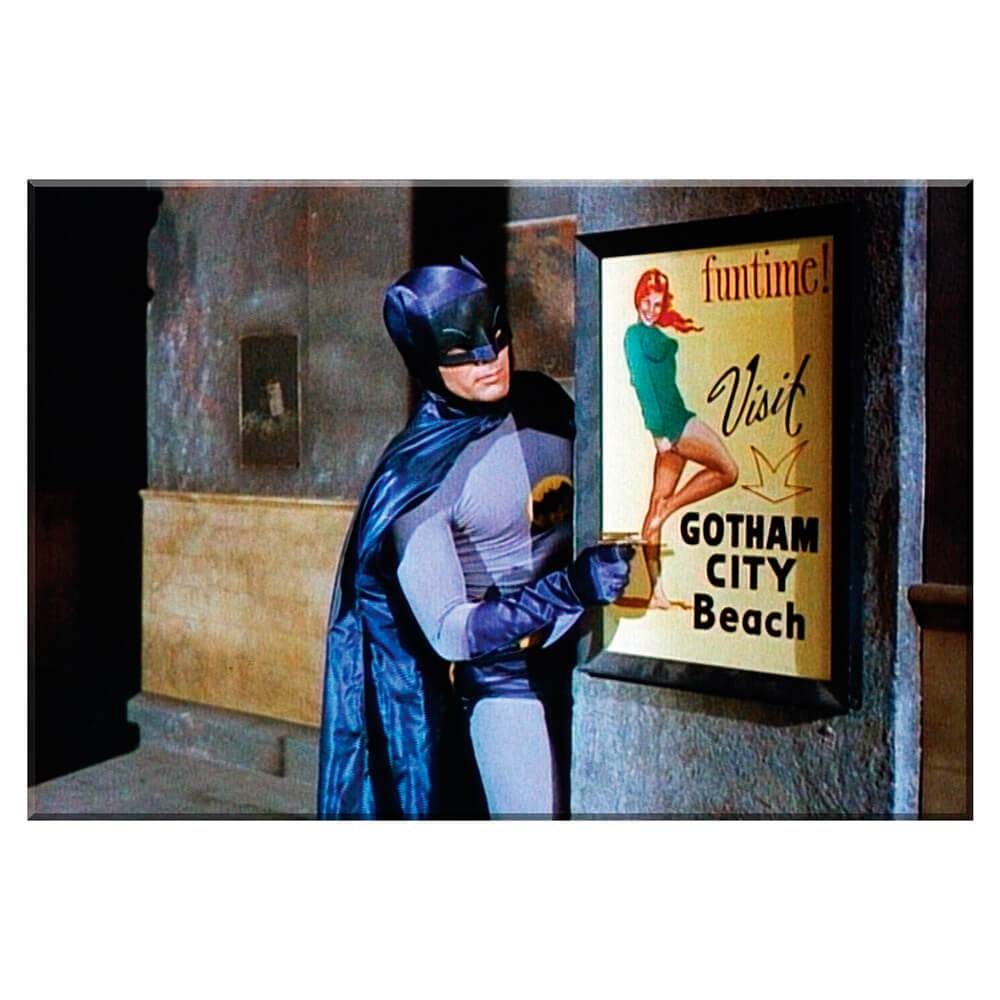 Tela Movie Fun Time Batman em Madeira - Urban - 70x50 cm