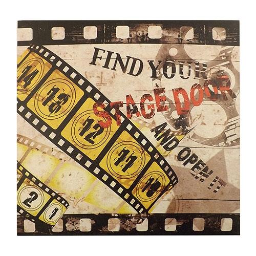 Tela Movies Stage Door - Impressão Digital - 40x40 cm