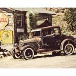 Tela Old Jalopy Marrom em MDF - Urban - 50x40 cm