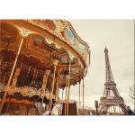 Tela Paris Colorida em MDF - Urban - 70x50 cm