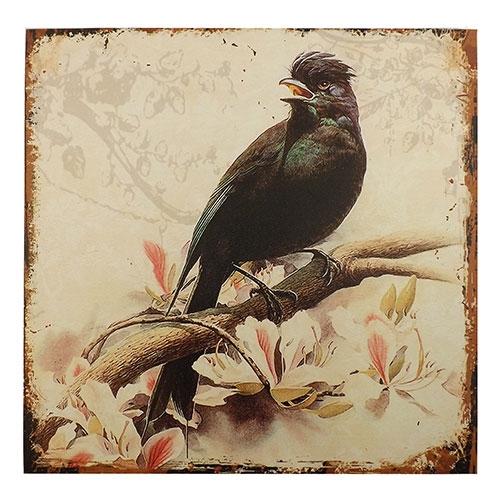 Tela Passarinho Negro - Impressão Digital - 40x40 cm