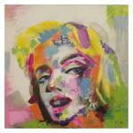 Tela Pintura Rosto de Mulher de Lado Fullway em MDF - 100x100 cm