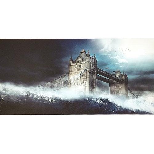 Tela Ponte Torre de Londres - Impressão Digital - 60x30 cm