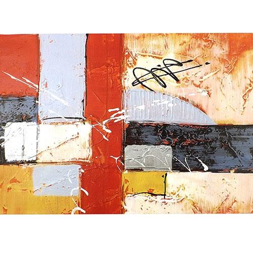 Tela Quadrados Coloridos - Impressão Digital - 40x30 cm