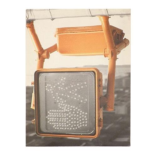 Tela com Refletor Stop - Impressão Digital com Vidro e Luzes - 30x40 cm