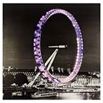 Tela Roda Gigante de Londres com LED Fullway - 100x100 cm