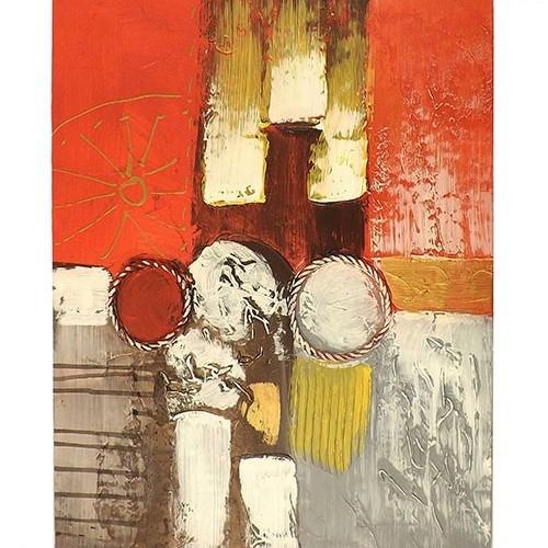 Tela Sol e Formas - Pintura sobre Tela - 40x50 cm