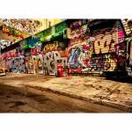 Tela Street Art Stores Colorida em MDF - Urban - 70x50 cm