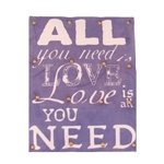 Tela em Tecido All You Need Is Love - 50x40 cm