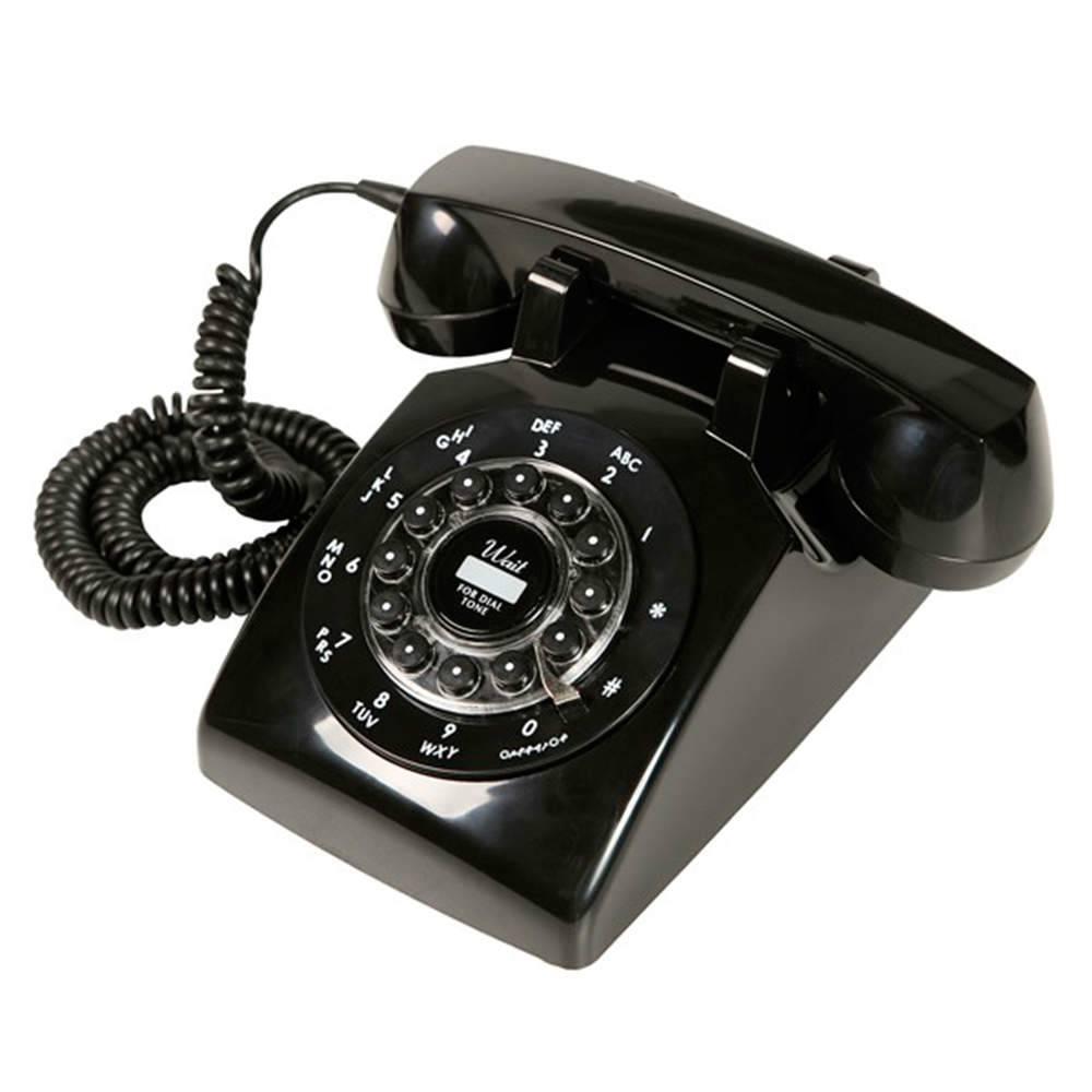 Telefone Classic London Preto - 22x21 cm