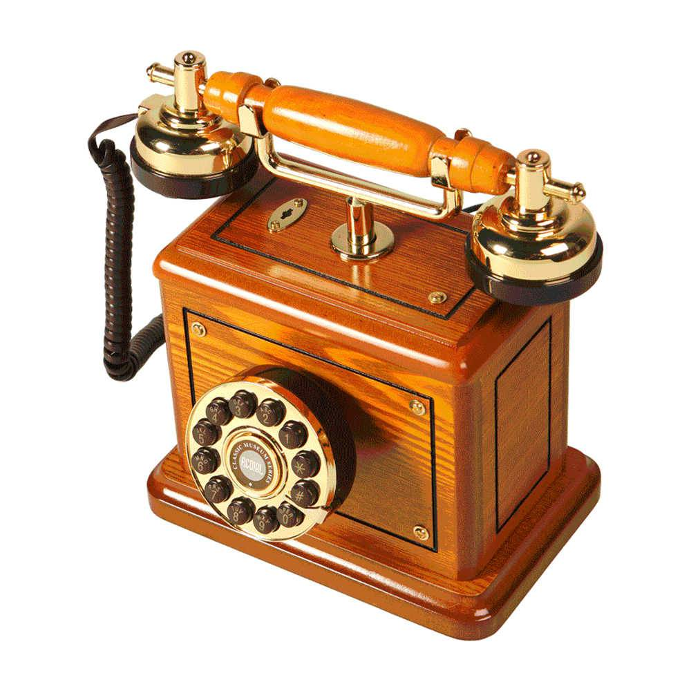 Telefone Classic Royal em Madeira - 29x25 cm