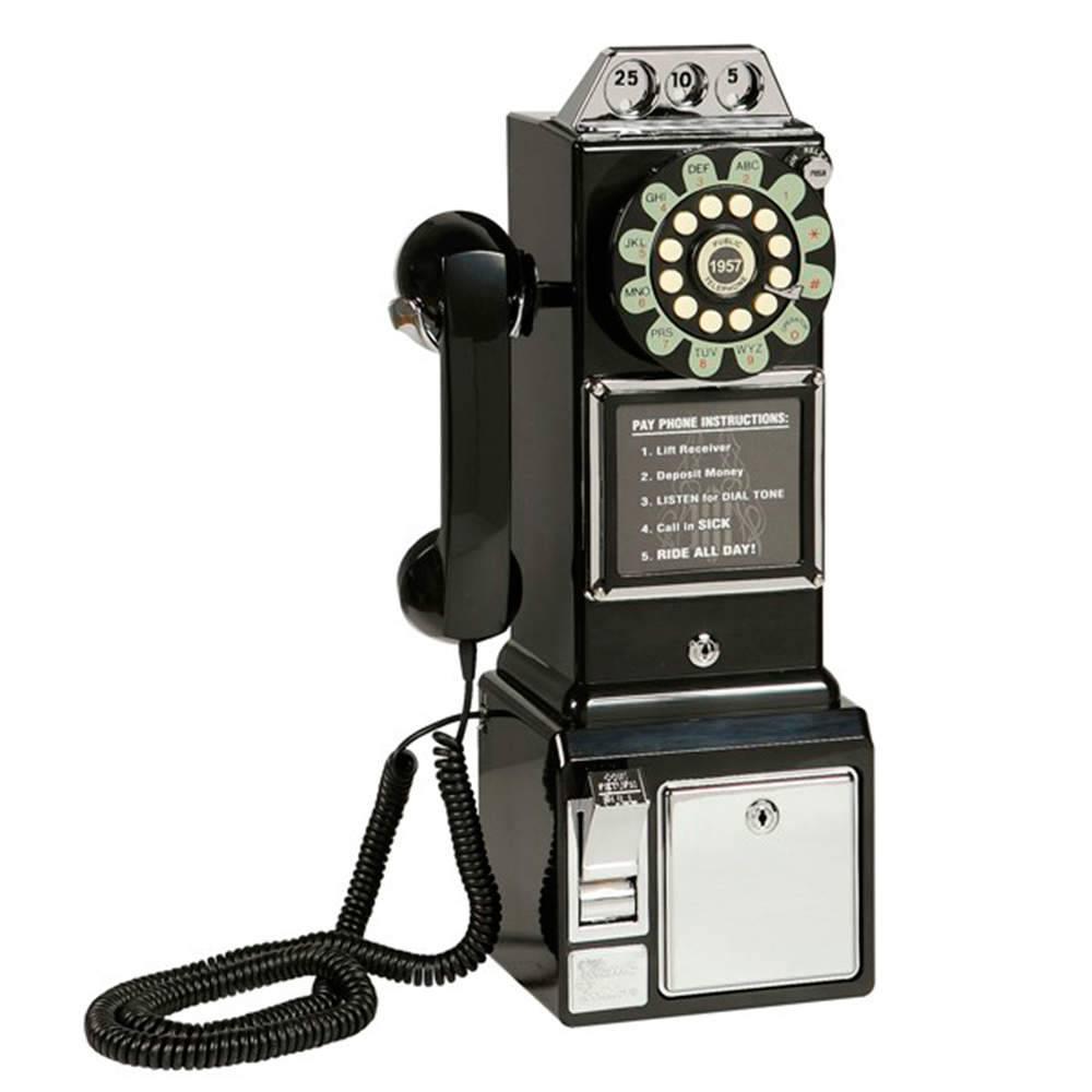 Telefone Classic Watson Preto - 47x22 cm
