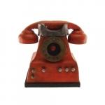 Telefone laranja decorativo