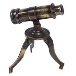 Telescópio Decorativo Tripé Cooper em Metal - 10x7 cm