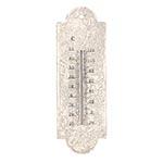 Termômetro de Parede Branco Oldway em Ferro - 30x10 cm