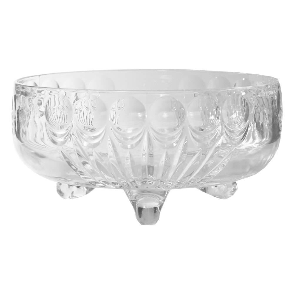 Tigela Bowl Anglia Transparente em Vidro - 26x12 cm