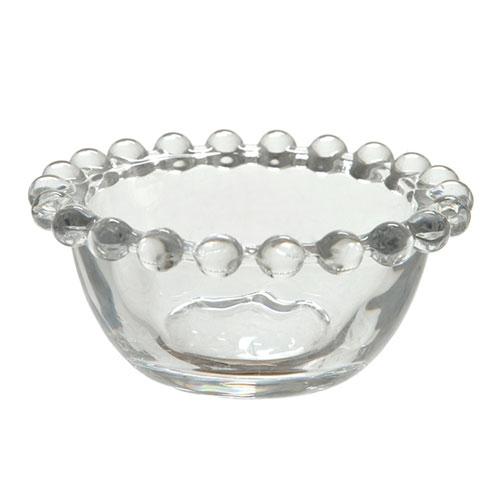 Tigela Pearl Pequena Transparente em Vidro - 9x4 cm