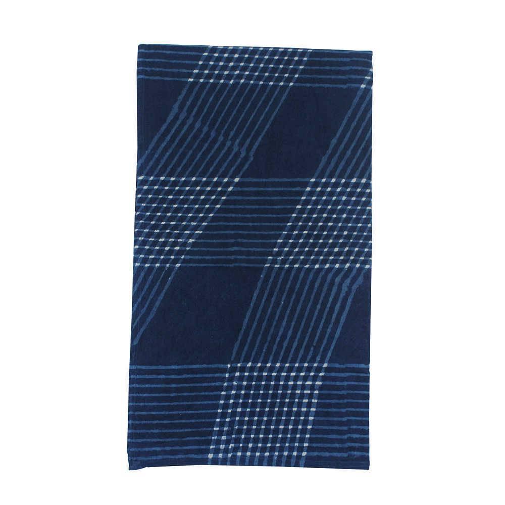 Toalha de Mesa Thor Azul Indigo Quadrada em Algodão - 210x210 cm