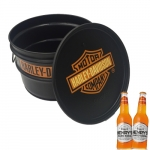 Tonel para Bar Harley Davidson Preto - 40x30 cm