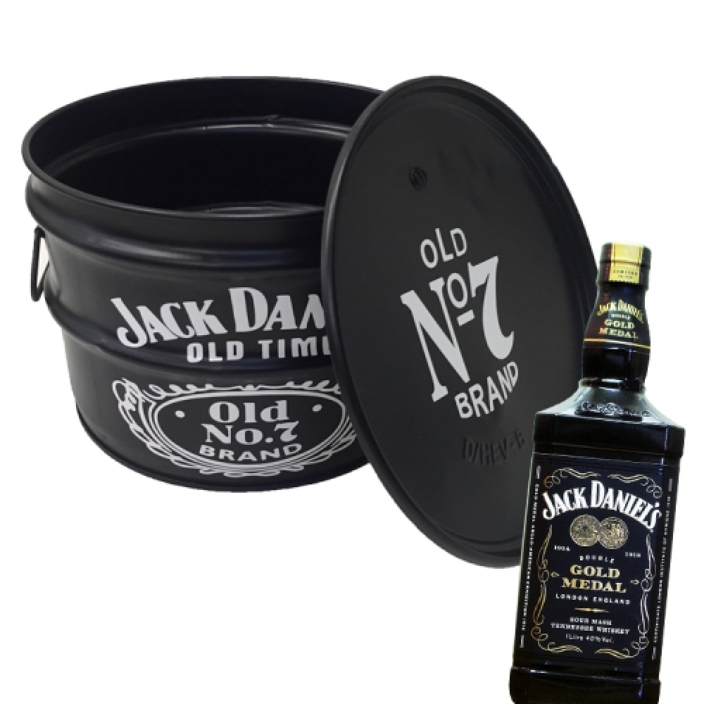 Tonel para Bar Jack Daniel's Preto - 40x30 cm
