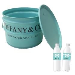 Tonel para Bar Tiffany Azul - 40x30 cm