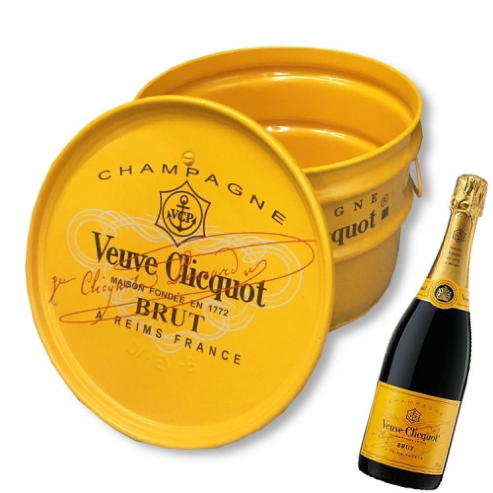 Tonel para Bar Véuve Clicquot Amarelo - 40x30 cm
