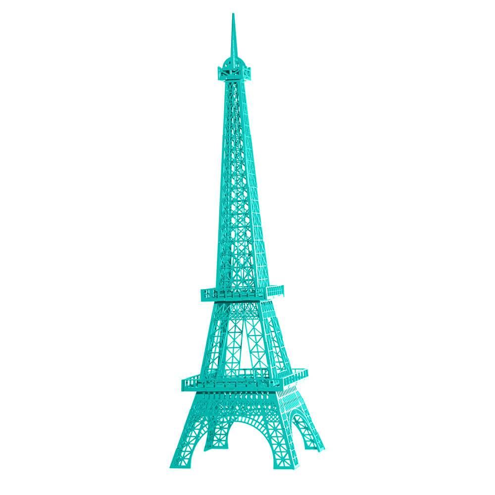 Torre Eiffel Decorativa Tiffany Pequena em MDF - 28x7 cm