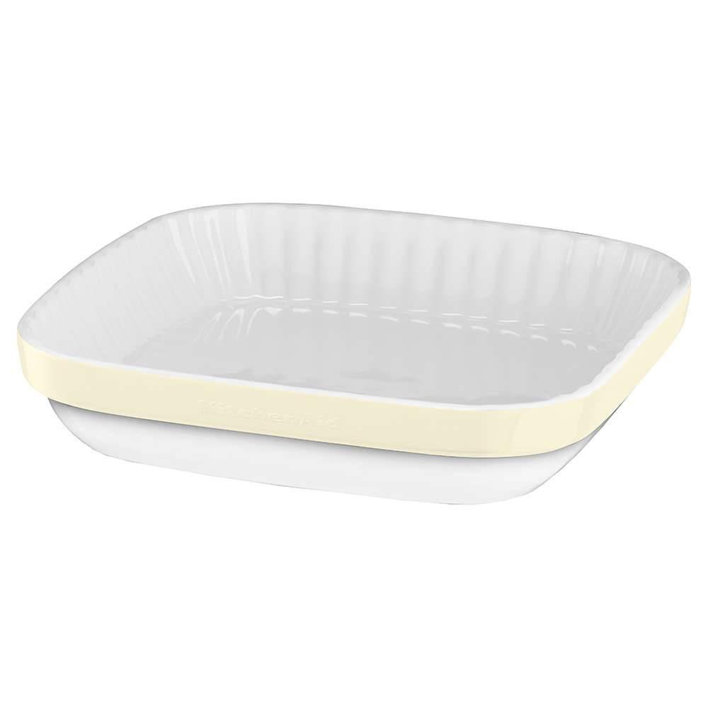Travessa de Cerâmica para Gratinar KitchenAid Almond Cream - KI765AA - 23x5 cm