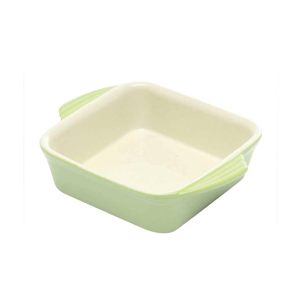 Travessa Quadrada Verde em Cerâmica - Bon Gourmet - 18 cm