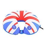 Almofada Massageadora para Pescoço London Vermelho/Azul em Tecido - 38x30 cm