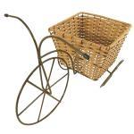Triciclo de Ferro com Vaso Quadrado