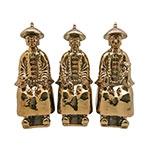 Trio de Estatuetas Figuras Aberdeen Dourado